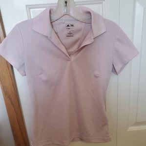 Adidas light pink polo shirt! Size XS